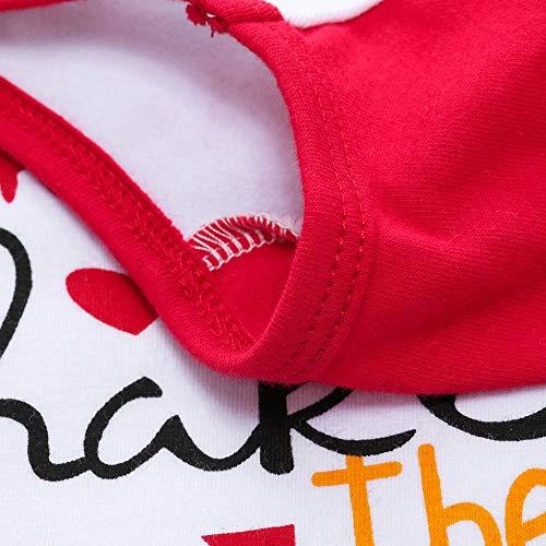 Tops per Natale Theme maniche lunghe una Accessori Costume di ragazza Christmas rosso Carnival Angelof volant Abbigliamento regalo aprono invernale che manica Anniversario TWfYOgw