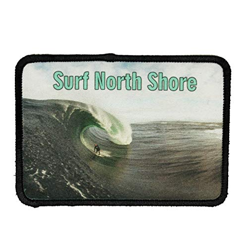 Surf North Shore Patch Oahu Hawaii Travel Dye Sublimation Iron On Applique