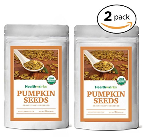 Healthworks Pumpkin Seeds Organic Shelled, 4lb (2 2lb Packs)