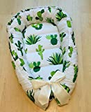 Baby Nest Baby Bed Green White Cotton Crib Set Baby Gift Nursery Portable Crib