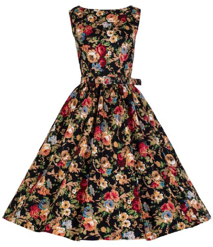 Lindy-Bop-Petite-Audrey-Vintage-Style-50s-Floral-Swing-Dress