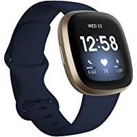 Fitbit Versa 3 Health & Fitness Smartwatch with GPS, 24/7 Heart Rate, Alexa Built-in, 6+ Days Battery, Midnight Blue…