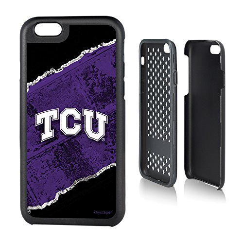 Texas Christian Horned Frogs iPhone 6 & iPhone 6s Rugged Case officially licensed by Texas Christian University for the Apple iPhone 6 by keyscaper® Durable Two Layer Protection Shock Absorbing (Texas Christian Horned Frogs Baseball)