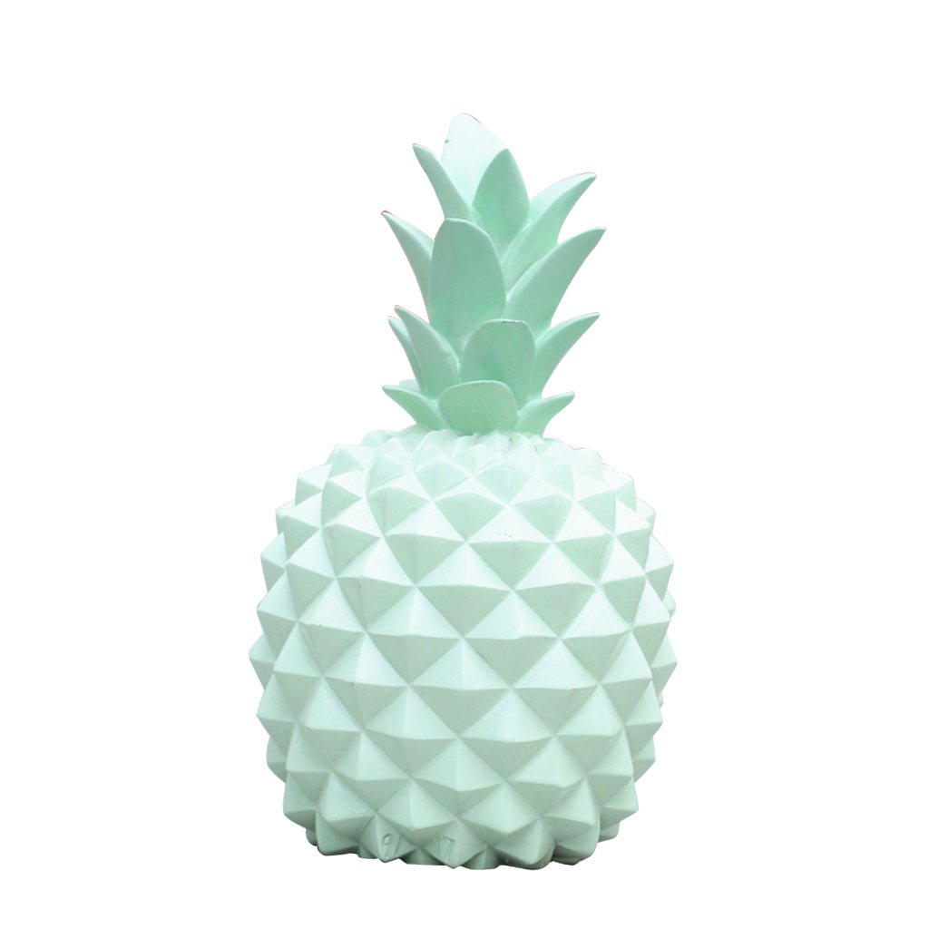 White L as Described MagiDeal Novelty Pineapple Resin Coin Piggy Bank Boxes Money Boxes Ornaments Home Furnishings for Kids Christmas Birthday Gifts