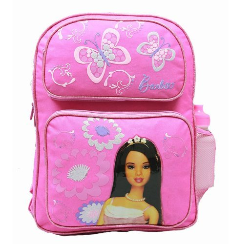 Backpack - Barbie - Large Backpack with Water Bottle - Pink 2 -