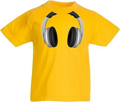 lepni.me Camiseta para Niño/Niña Auriculares para Amantes de la ...