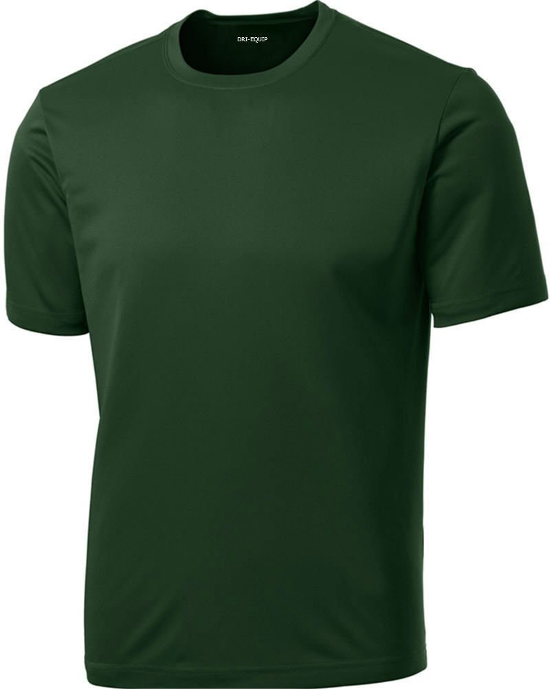 Dri-Equip Youth Athletic All Sport Training Tee Shirt,L-Forest Green by Joe's USA