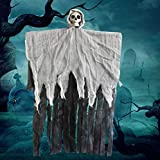 Halloween Hanging Ghost Decoration Animated Skeleton Props for Yard Outdoor Party Supplies Haunted Houses Decors