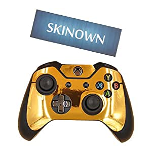 For Xbox One S Gold Glossy Console & 2 Controllers Decal ... |Gold Xbox One Controller Skin