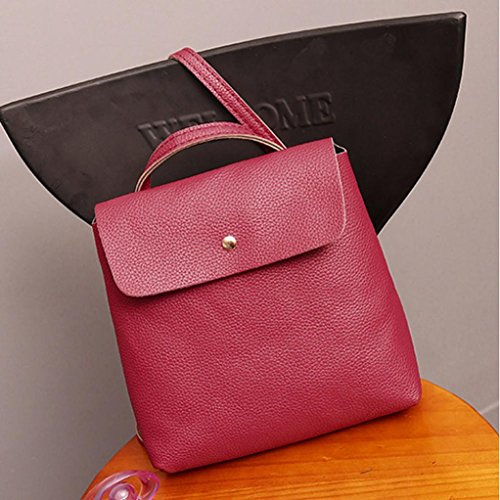 Satchel Backpack Watermelon Leather Womens Travel Rucksack Purse Bag Bags Inkach Fashion Red School 5Yx4AwPqq