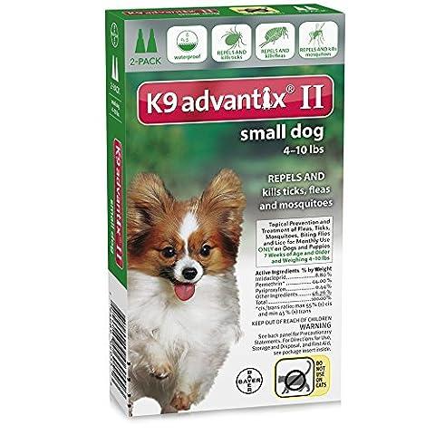 K9 Advantix II Small Dogs (4 - 10 lbs, 2 Month Supply) - Advantix Flea Treatment