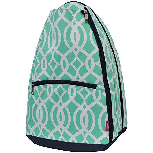 Geometric Vine Pattern Print NGIL Tennis Racquet Holder Backpack
