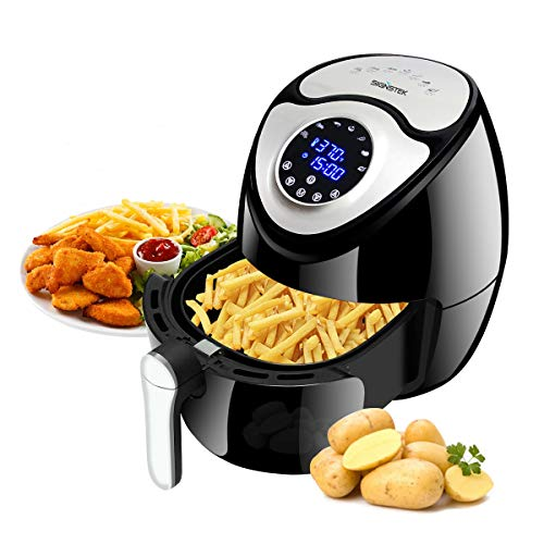 Signstek Hot Air Fryer Large Capacity XL Family Size 1700W 5.9 QT 7-in-1Digital Touch Screen with Timer & Temperature Control, Recipe Book
