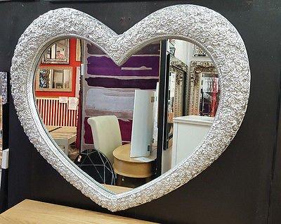 Specchio da Parete Grande Cuore Ornato Francese Engrved ...