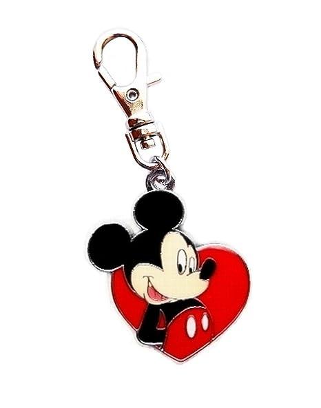 Mickey And Minnie Keyring Heart Love Charm