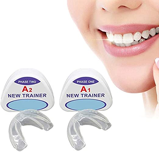 DDPP Ortodoncia ortodoncia, ortodoncia aparatos de ortodoncia en la Noche, Caja de Almacenamiento (2 etapas, Adecuado para Diferentes Condiciones dentales),A1+A2: Amazon.es: Hogar