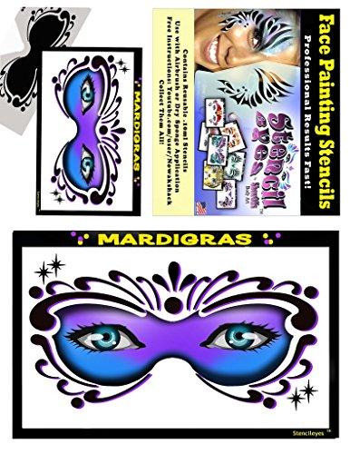Face Painting Stencil - StencilEyes Mardi Gras