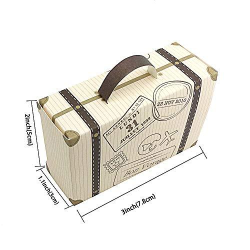 SaveStore 50pcs Creative Mini Suitcase Candy Box Candy Packaging Carton Wedding Gift Box Event Party Supplies Wedding favors with Card by SaveStore (Image #7)'