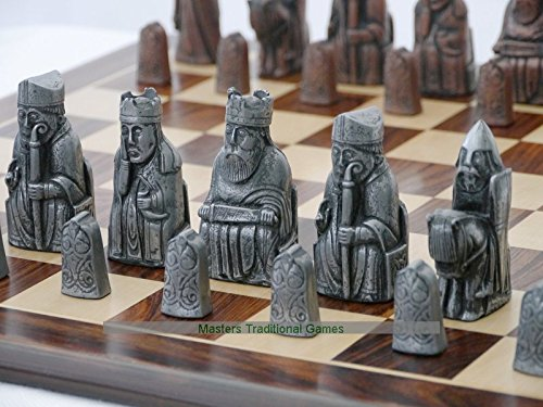 Chess Copper (Berkeley Chess Isle of Lewis Chess Set - Steel and Copper Finish)