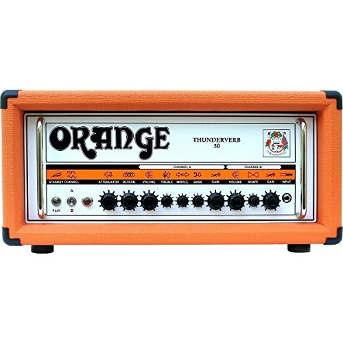 Orange Amplifiers Thunderverb 50 Series TH50HTC 50W Tube Guitar Amp Head Orange