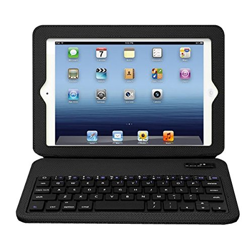(Aluratek Rugged Folio Case with Built in Ultra Slim Bluetooth Keyboard for iPad mini)