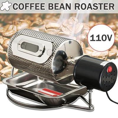 110V Stainless Steel Coffee Bean Roasting Machine Coffee Roaster Roller Baker