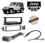 rolls royce radio - Radio Stereo Install Dash Kit + wire harness And antenna adapter for Jeep Grand Cherokee (02-04), Liberty (02-07), Wrangler (03-06)