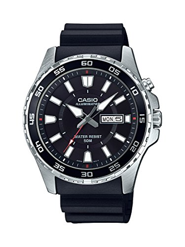 Casio-Mens-Super-Illuminator-Quartz-Stainless-Steel-and-Resin-Casual-Watch-ColorBlack-Model-MTD-110-1AVCF