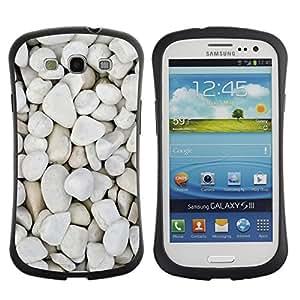 Paccase / Suave TPU GEL Caso Carcasa de Protección Funda para - Pebbles Beach Pattern Nature - Samsung Galaxy S3 I9300