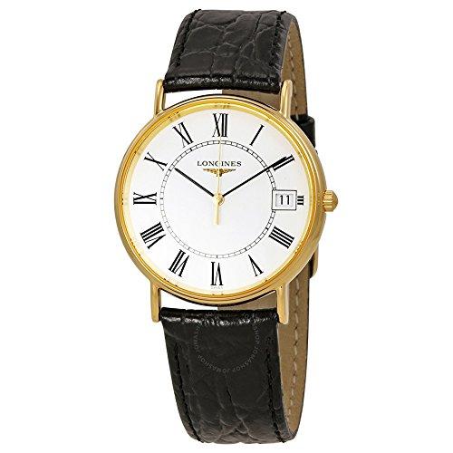 Longines Reloj Analógico para Mujer de Cuarzo con Correa en Cuero L48192112