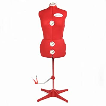 Ackermann Damen Schneiderpuppe in Rot-Größe L, Materialmix, 86 x 34 x 41 cm