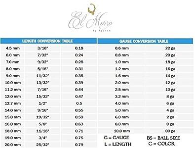 El Morro Body Piercing Jewelry Titanium Ball Closure Ring With Hematite Ball 18g 16g 14g 12g 10g 11g 6g 4g 2g 0g Spasso 866-MUVA-2.6-74.6-4-AI