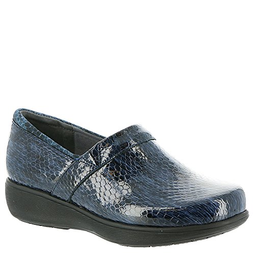 Softwalk Femmes Meredith Sport Bleu / Noir Cuir De Serpent 6 M Us