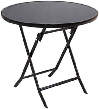 Table Pliante De Table En Verre Noir Rond Table Pliante