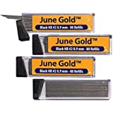 June Gold 320 Lead Refills, 0.9 mm HB #2, Bold Thickness, Break Resistant Lead with Convenient Dispensers