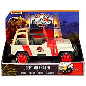 Matchbox Jurassic World Jeep Wranger Toy Vehicle, Multicolor