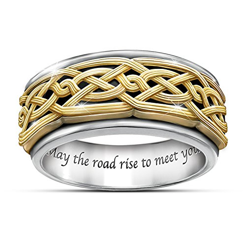 Bradford Ring: Celtic Traditions Men's Stainless Steel Sp...