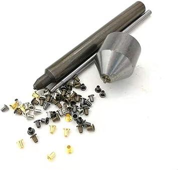 lona BJD ojales con herramientas de fijacion Kit de Herramienta de Ojetes,Mezcla de colores peque/ños ojales con ojales para calzado paquete de 100 1.5mm cuero ropa