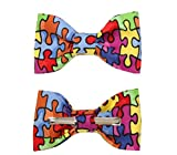 Toddler Boy 3T 4T Puzzle Pieces Clip On Cotton Bow Tie Bowtie