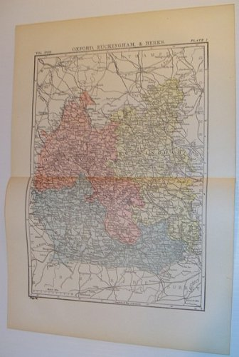 (Colour Map of Oxford, Buckingham, & Berks: Circa 1902)