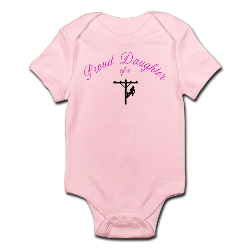 CafePress - Proud Daughter Of A Lineman - Cute Infant Bodysuit Baby Romper