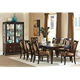 """Steve Silver Company MonTableanc Table with Two 18"""" Leaves, 46"""" x 60""""/78""""/96"""" x 30"""""""