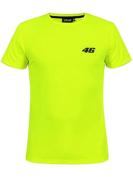 Valentino Rossi Camiseta Core Small 46 Amarillo (L, Amarillo)