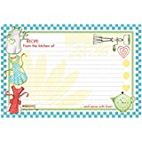 Brownlow Kitchen 32317 Retro Aprons Gifts Recipe Cards, Light Blue