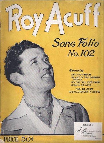 Roy Acuff Song Folio (No. 102) [Paperback] by N.F. Hawkins