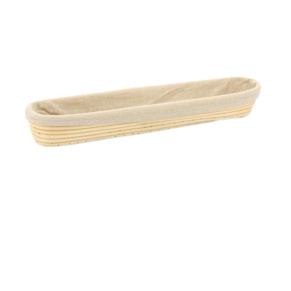 Dgtek 22 inch Baguette Banneton Brotform Bread Proofing Basket Natural Rattan Cane Handmade & Linen Liner Cloth by Dgtek (Image #1)