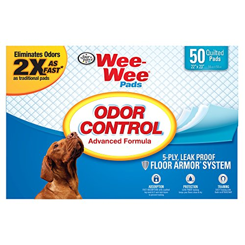 Four Paws Wee-Wee Odor Control Puppy Pads, 50 Ct - Extreme Odor Control