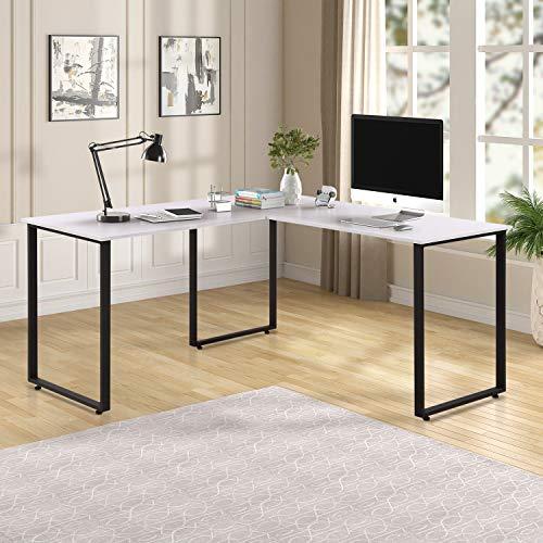 Merax L-Shaped Corner Desk Office Workstation Computer Desk Home Office Wood Laptop Table Study Desk