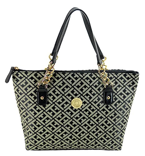 Tommy Hilfiger Women TH Logo Shoulder bag Handbag Black