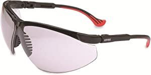 Uvex by Honeywell Genesis XC Safety Glasses, Black Frame with 50% Gray Lens & Uvextreme Anti-Fog Coating (S3310X)